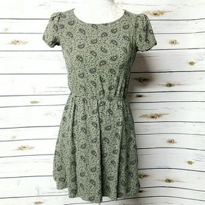 Tribal Design Army Green Dress XS